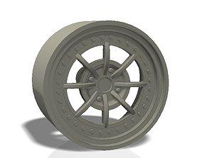 8 spokes rim 3D printable model