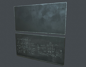 Blackboard PBR Game Ready 3D asset