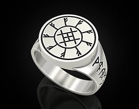 3D printable model Ring with runes