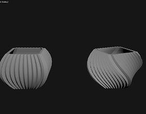 3D Printed Planter Plant Pot Plant Vase 123