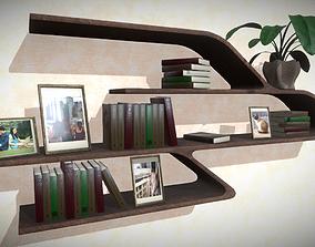 Modern smooth shelf 3D asset