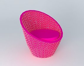 3D model PINK ARMCHAIR DURBAN houses the world