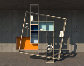 3D model of designer Hughes Weil shelf named Frisco
