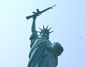 3D print model Statue of Liberty gun