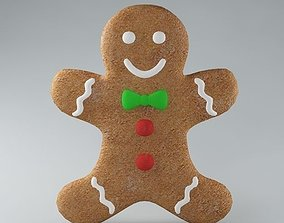 Gingerbread Man 02 3D model
