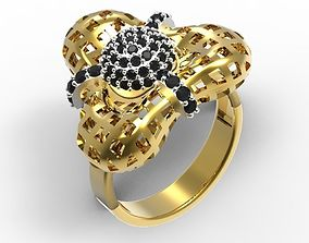 FANCY WOMAN RING trendy 3D print model