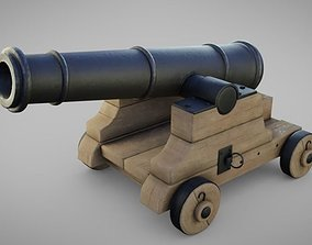 Cannon 3D asset VR / AR ready PBR