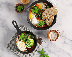 3D Shakshuka with Spinach and Harissa