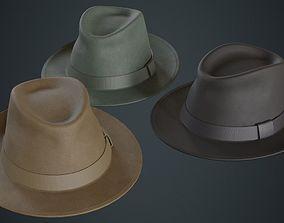 3D asset Fedora Hat 1A