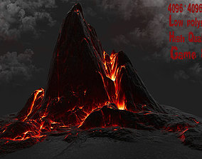 3D asset low-poly Lava Rock