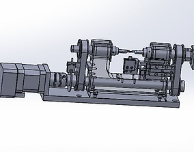 A rotary clamp positioning mechanism device 3D model