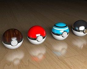 Pokeball set 3D model