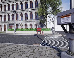 3D asset animated Modular Building Environment