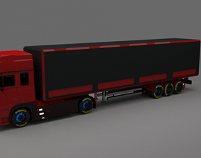 3D model 20foot Heavy Lorry