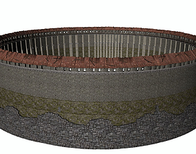 3D model Round Wall