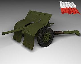Bofors Cannon 37mm 3D asset