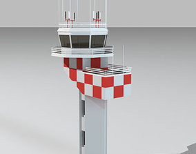 3D model Airport control tower2