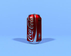 Soda Can Coca Cola 330ml low poly 3D asset