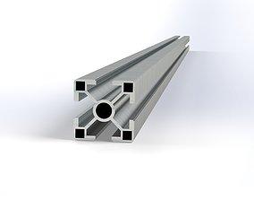 3D Aluminium construction profile 30x30