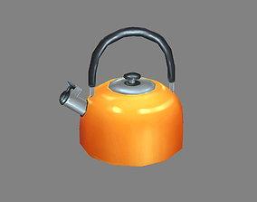 Cartoon kettle - hot water - tea 3D asset