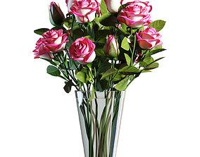 nature Flower Set 06 - Pink Roses Bouquet 3D