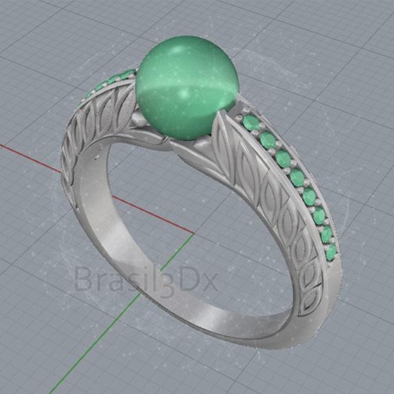 Ring pearl 3D file