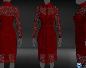3D model Shirt dress