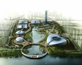 3D Aristocratic Stadium Exterior