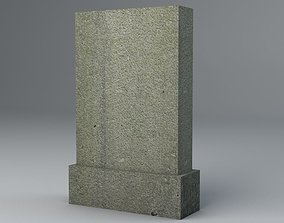 3D model Gravestone 4 Low Poly