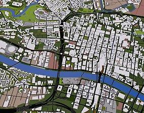 3D model Glasgow City UK