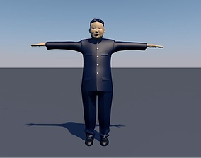 3D model kim jong un animated dance walking running