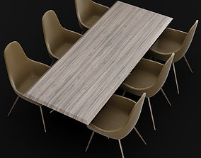 Table and chair 1 3D