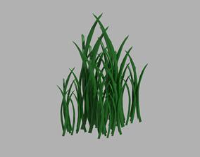 3D model flower Grass