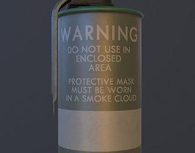Green M18 Smoke Grenade USA PBR VR AR Games 3D model