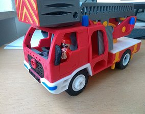 Fire truck with ladder toy fully 3D printable