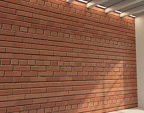 3D model Brick wall Old brick 69