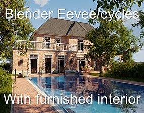 3D model Classic villa 2021 Blender Eevee and Cycles 1