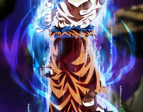 Goku Ultra Instinct V2 3D printable model instinct