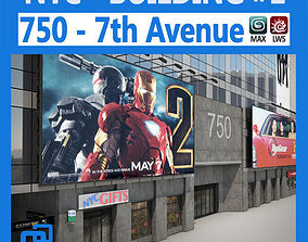 NYC Building 750 7th Avenue 3D