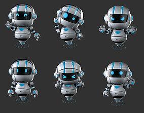 cute robot 3D asset rigged