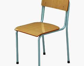 3D School Chair vray