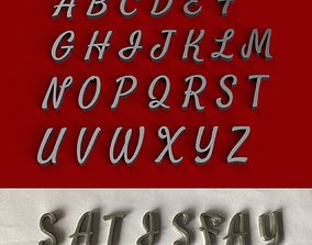 SATISFY uppercase and lowercase 3D Letters STL FILE
