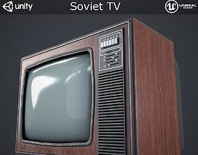 3D model Soviet TV