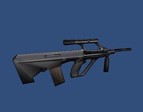Low Poly Assault Rifle 1 3D model
