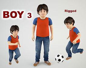 3D model animated Boy 3