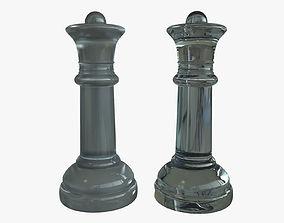3D model Queen Chess Pieces Glass