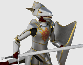 Dragonborn Character - Game Ready 3D model