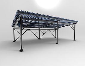 Hangar industrial construction 3D model metal