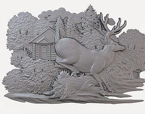 Decorative Bas-relief 3D model Dec07