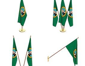 3D model Washington Flag Pack
